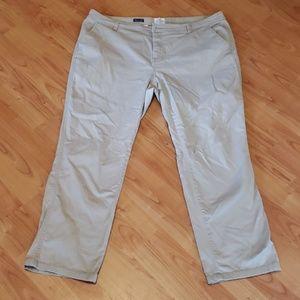 St. John's Bay tan textured straight leg pants